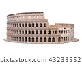 Coliseum, Colosseum isolated on white.  43233552