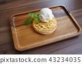 Sweet Potato Apple Pie and Ice Cream 43234035