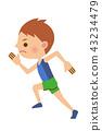 วิ่ง,ผู้ชาย,ชาย 43234479