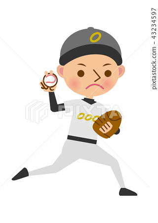 棒球运动员投手 43234597