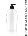 blank packaging pumping gel soap or shampoo bottle 43234860