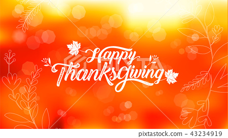 Happy Thanksgiving typography poster. 43234919