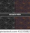 Halloween spider web seamless pattern.. 43235882