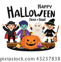 Happy Halloween and Trick or Treat Party. 43237838