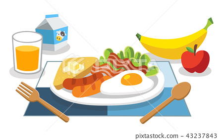 Eating breakfast in the morning. 43237843