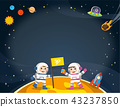 Astronaut  on the planet with a alien spaceship. 43237850