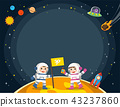 Astronaut  on the planet with a alien spaceship. 43237860
