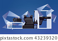 Vector scene with military object like flak jacket 43239320
