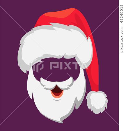 5248a3ce1ec Santa Claus hat and beard - Stock Illustration  43240013  - PIXTA