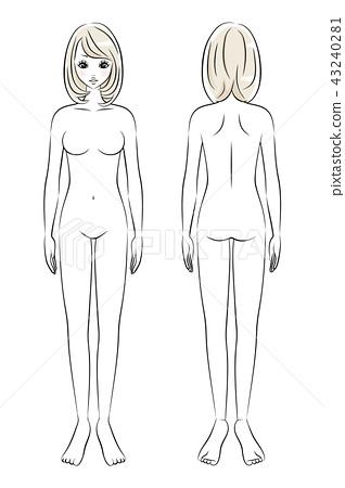 美女裸体全身 43240281