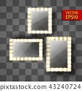 Mirror for make-up or a photo frame 43240724