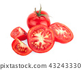 Tomatoes. Whole and a half isolated on white 43243330