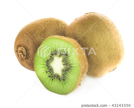 Whole kiwi fruit and his sliced segments 43243350