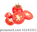 Tomatoes. Whole and a half isolated on white 43243351