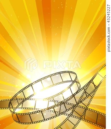 Retro filmstrip background 43245227
