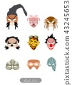 Clowns, Aliens and Evils Halloween Masks Set 43245653