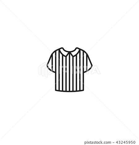 Icon of striped referee shirt 43245950