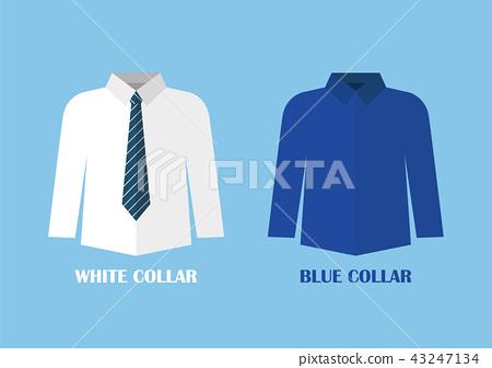 White and Blue shirt vector illustraton 43247134