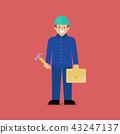 Craftsman character cartoon 43247137
