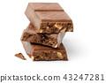 chocolate  isolated on white background. 43247281