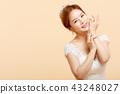 여성 신부 이미지 컬러 백 43248027