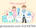 tooth with love yourself concept 43249766