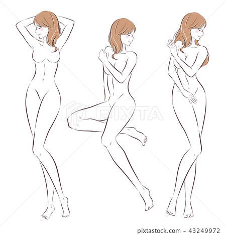 cartoon nude woman 43249972