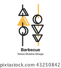 Barbecue Lineal Color Illustration 43250842