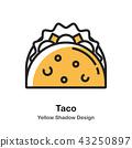 food, tacos, tortilla 43250897