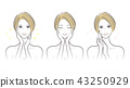 Female facial expression 43250929