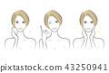 Female facial expression 43250941
