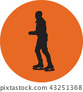 ice skating silhouette vector 43251368