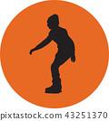 ice skating silhouette vector 43251370