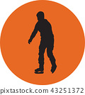 ice skating silhouette vector 43251372