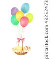 气球和婴儿 43252473