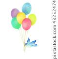气球和蓝鸟 43252474