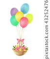 氣球和花籃 43252476