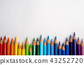 Color pencils isolated on white background. 43252720