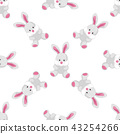 Vector seamless pattern with bunnies. 43254266