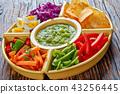 green salsa verde and veggies set 43256445