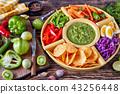 green salsa verde and veggies set 43256448