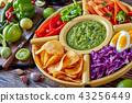green salsa verde, mexican cuisine, top view 43256449