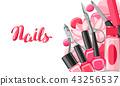 Banner with manicure tools. 43256537