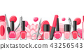 Banner with manicure tools. 43256543