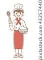 糕點師 做蛋糕 一個年輕成年女性 43257440