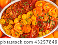 Tomato vegetarian pie with chickpeas and parsley  43257849