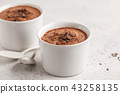Chocolate mousse from aquafaba.  43258135