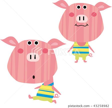 귀여운 돼지 형제 43258982