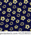 Seamless pattern with night star sky dark blue 43259055