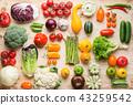 Summer vegetables on white table 43259542